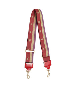 Sparkling Star Bag Strap / Red