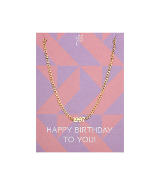 Year of Birth Necklace Giftcard