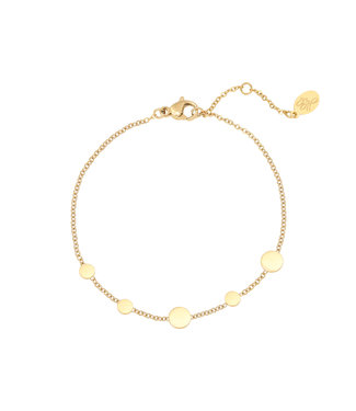 Gold Row of Coins Bracelet