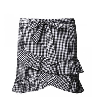 Checkerboard Ruffle Skirt