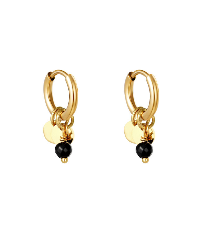 Cute Coins Earrings / Black