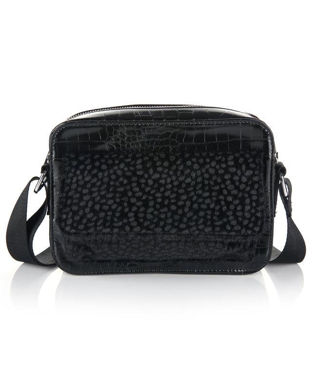 Tess Croco Bag / Black