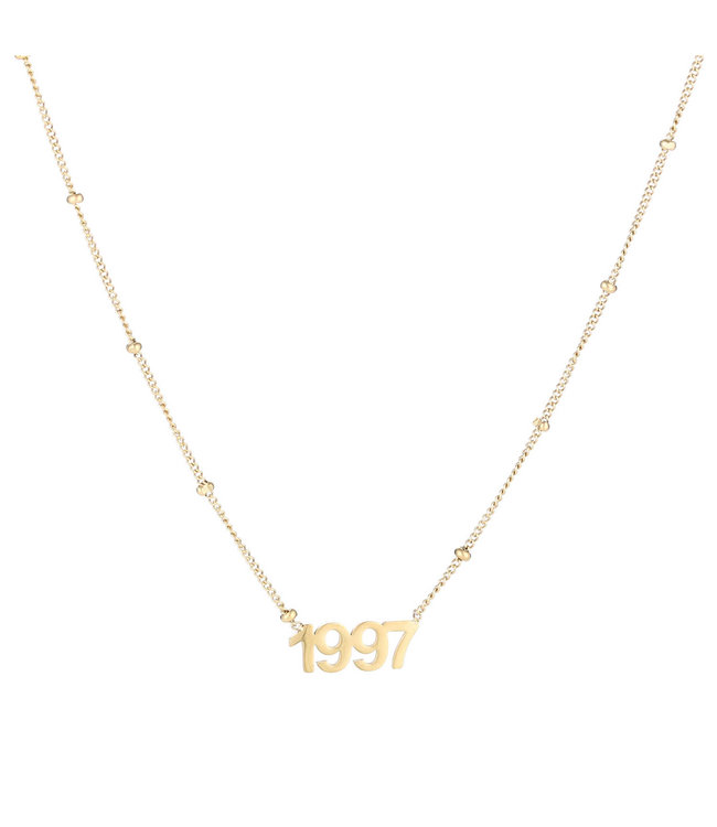 Gold Year of Birth Necklace