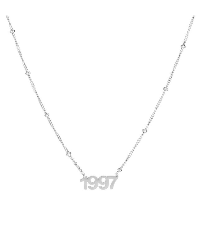 Silver Year of Birth Necklace