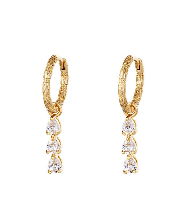 Diamonds in a Row Earrings