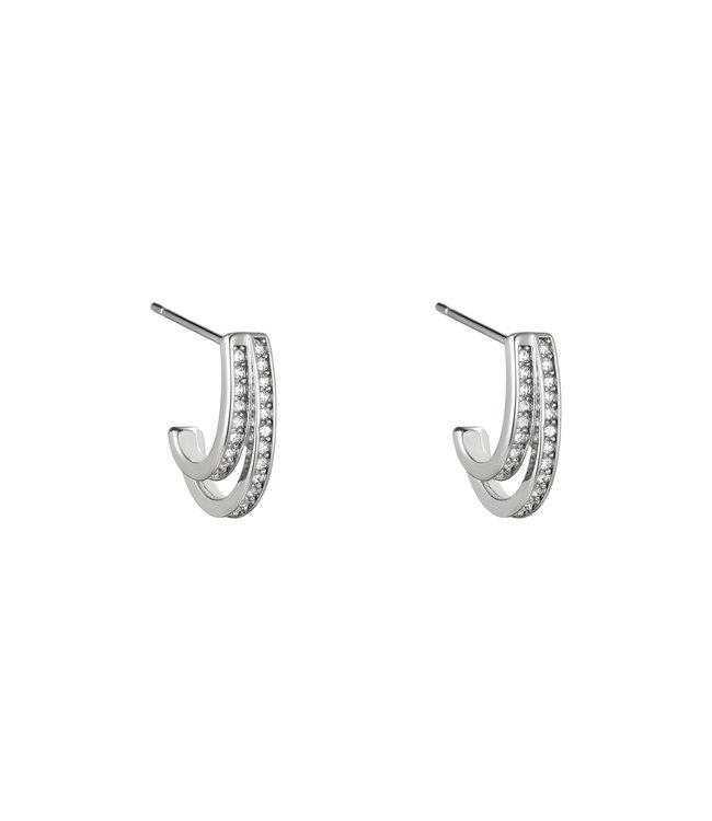 Sparkle Half Hoop Earrings