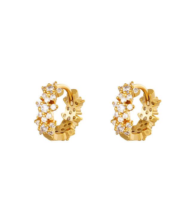 Monarch Hoop Earrings / Gold