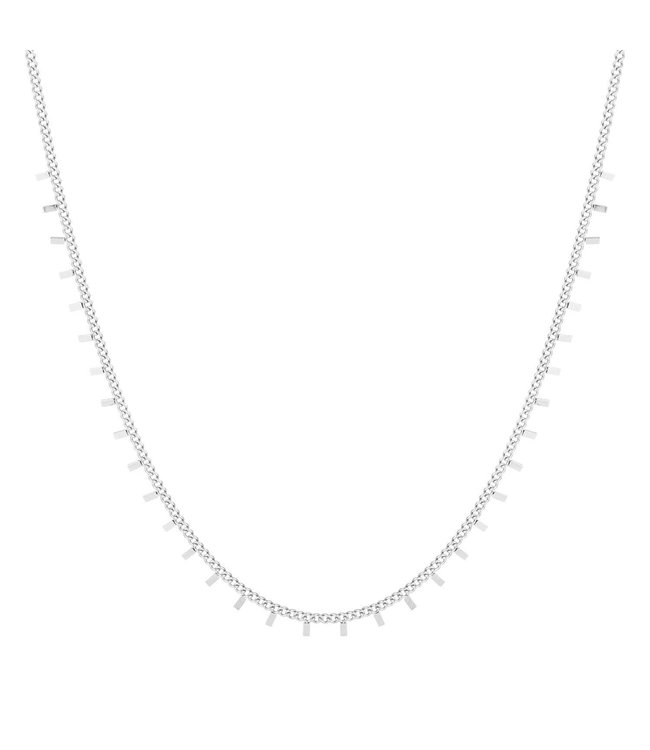 Silver Tiny Sticks Necklace
