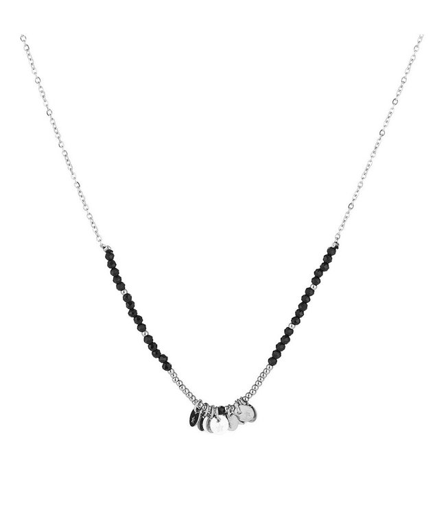 Silver Coin Beads Necklace