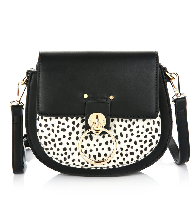 Cheetah Buckle Bag / Black