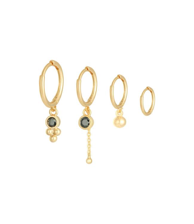 Four in a Row Earrings Set