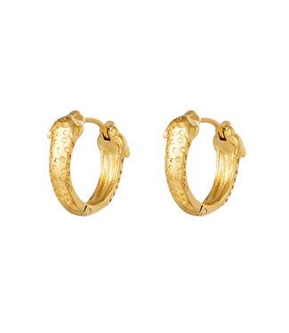Panther Head Hoop Earrings