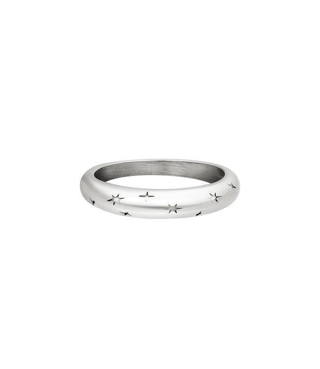 Silver Starry Sky Ring