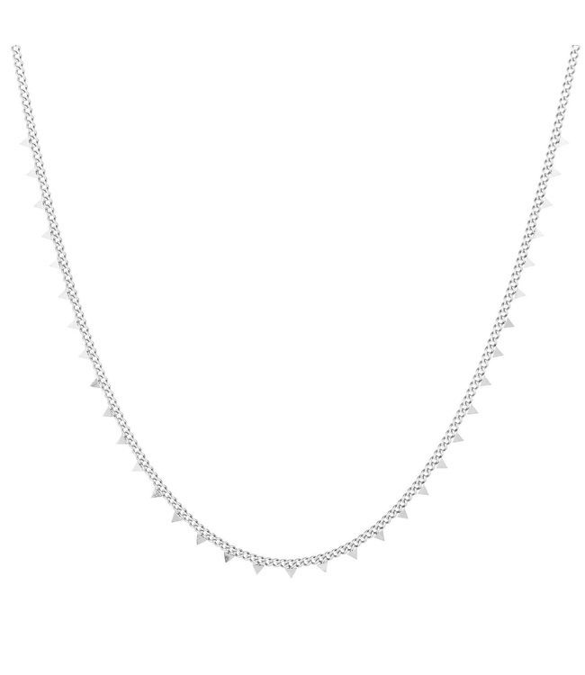 Silver Tiny Triangle Necklace