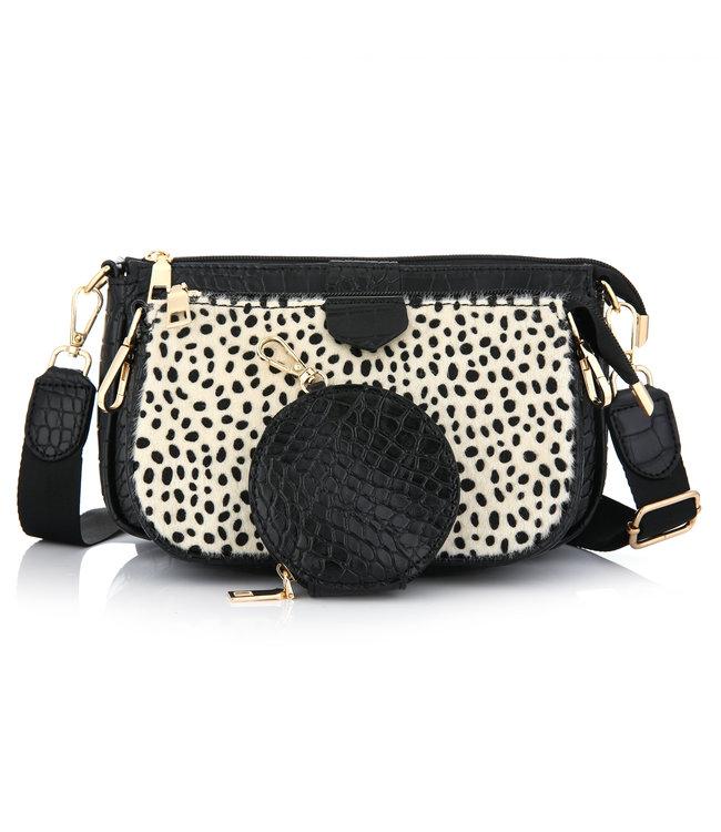 Lizzie Croco Bag / Black