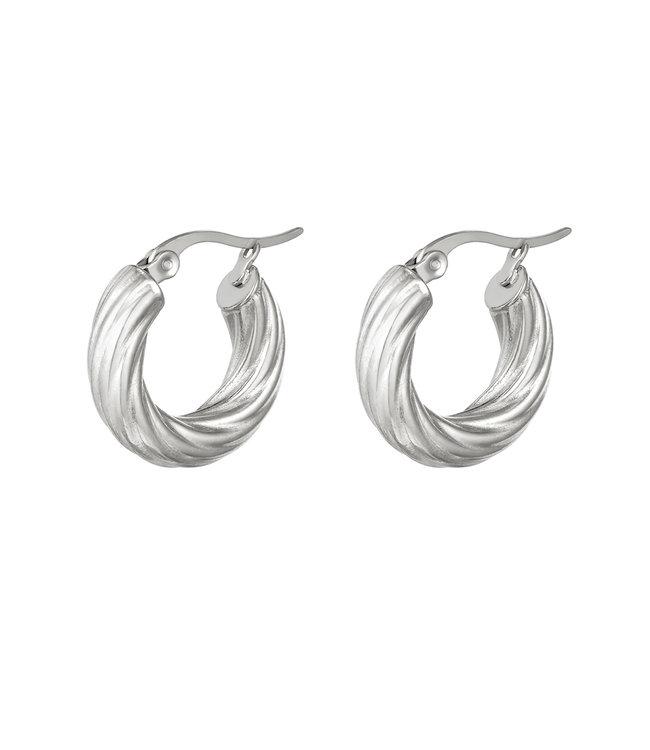 Curly Hoops Earrings