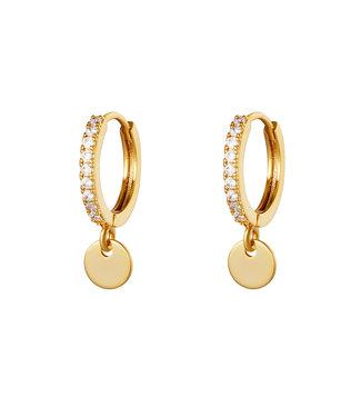 Diamond Coin Earrings