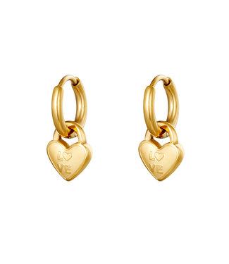 Locked in Love Earrings