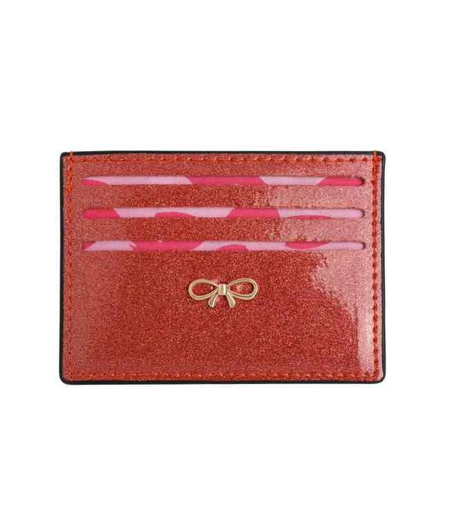 Shey Glitter Cardholder / Red