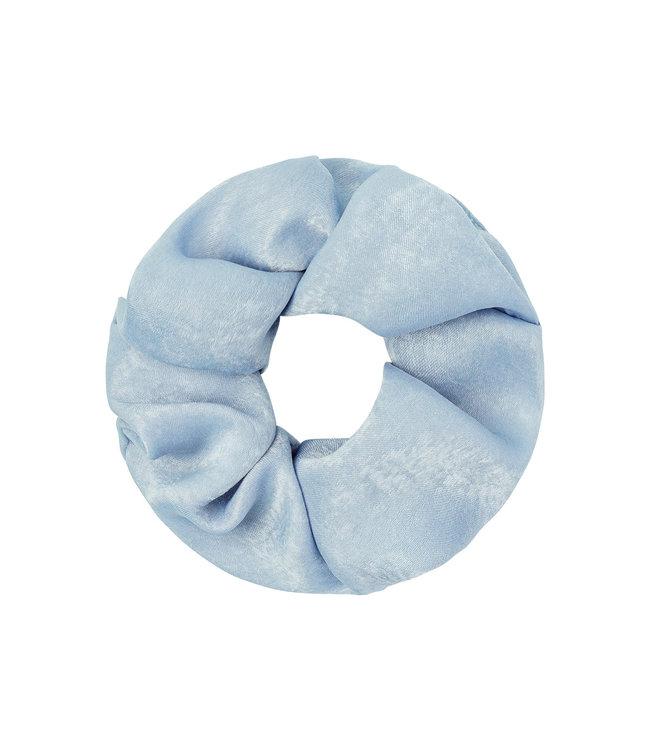 Satin Feel Scrunchie / Light Blue