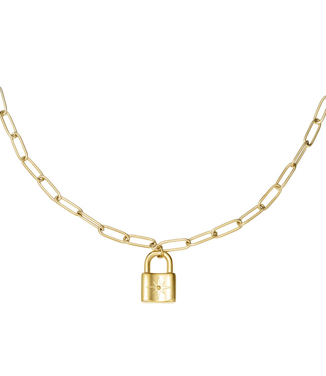 Chunky Lock Necklace