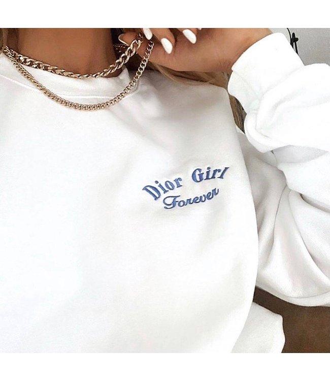 D-Girl Forever Sweater / White