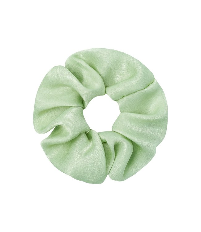 Satin Feel Scrunchie / Green