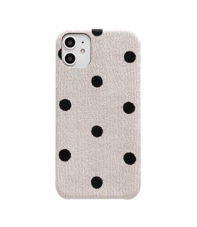 Dots Rib Phone Case / Beige