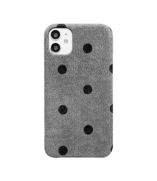 Dots Rib Phone Case / Grey