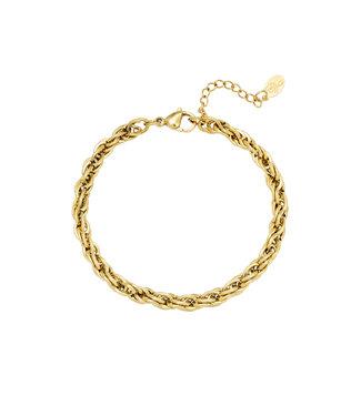Gold Twistle it Bracelet