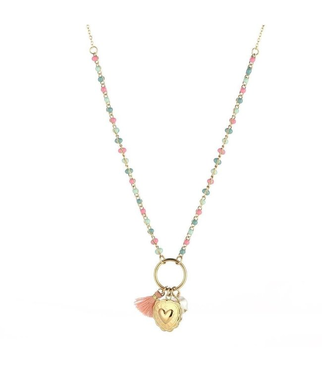 Beads Heart Necklace