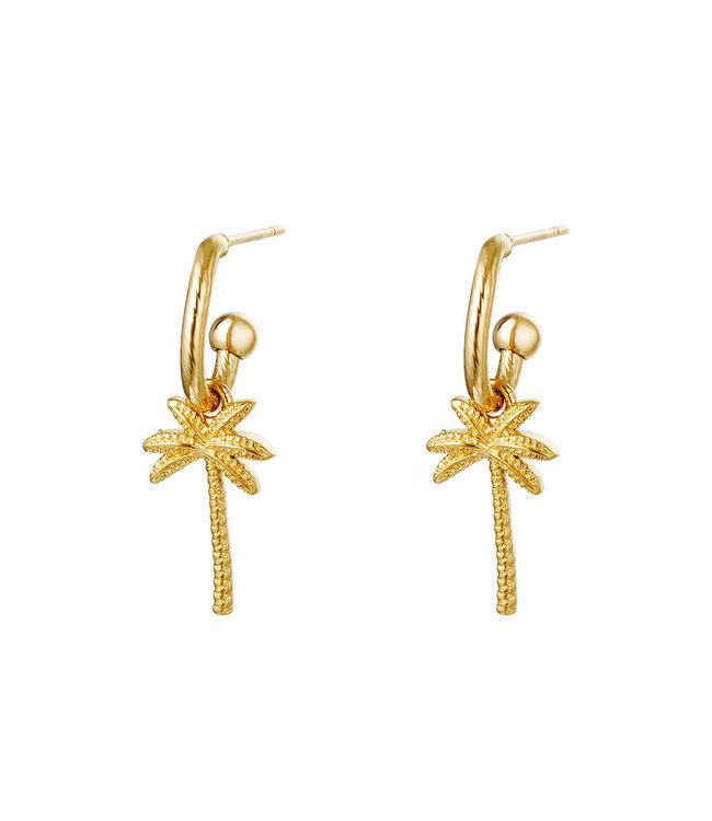 Beachy Palm Earrings