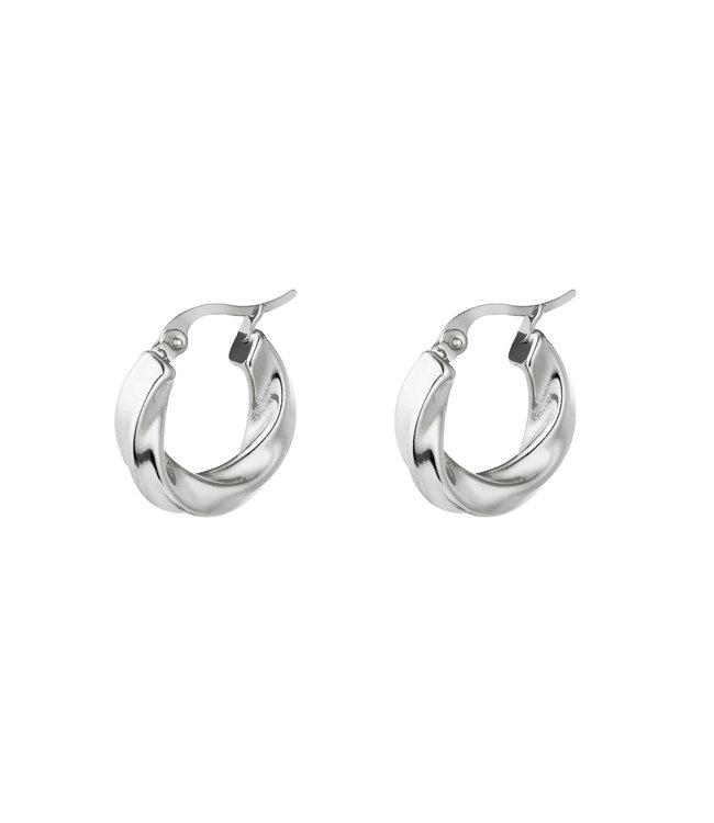 Swirl Hoops Earrings