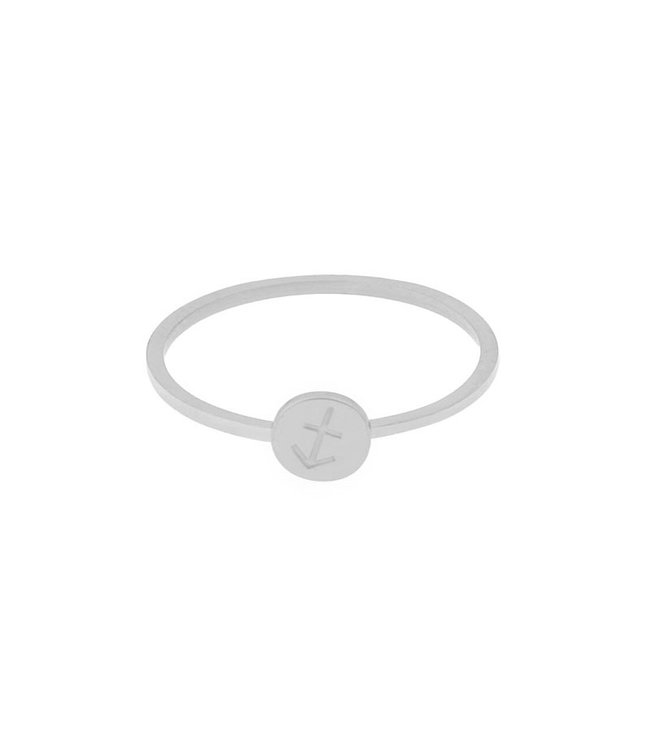 Silver Zodiac Sign Coin Ring