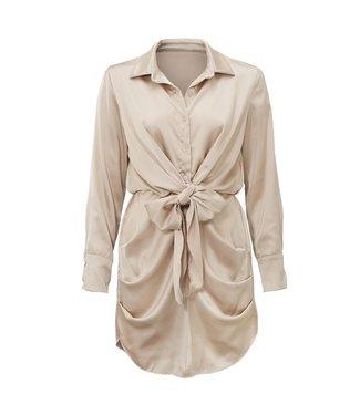 Satin Dress / Beige