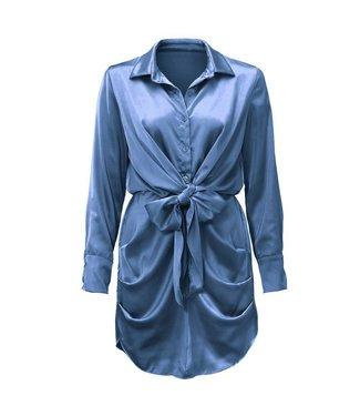 Satin Dress / Steel Blue