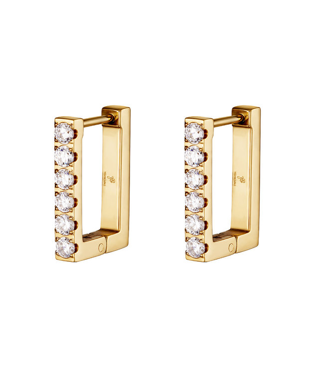 Diamond Rectangle Earrings