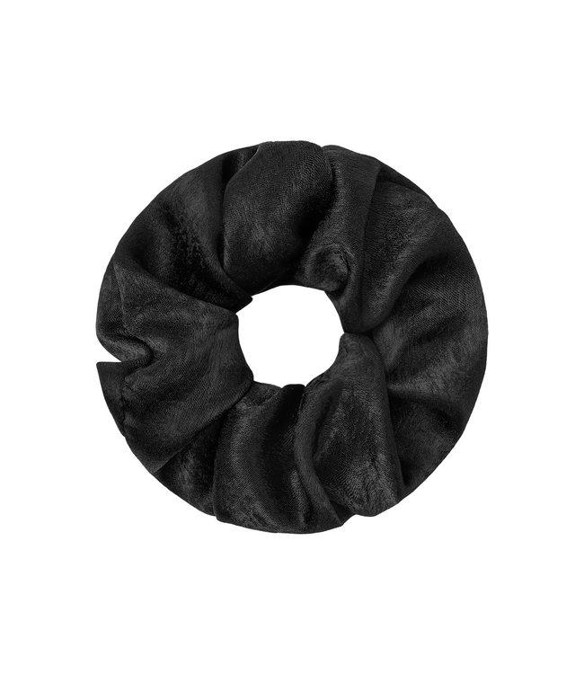 Satin Feel Scrunchie / Black