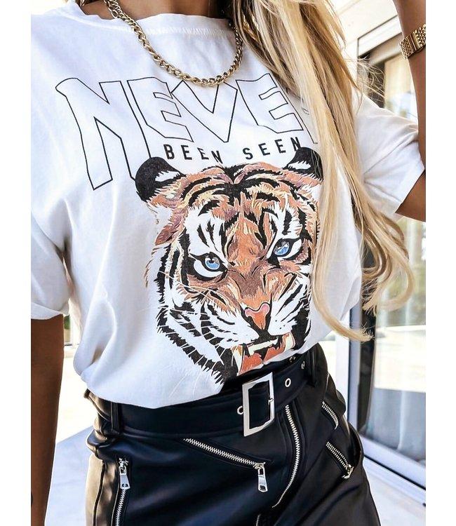 Tiger Tee / White
