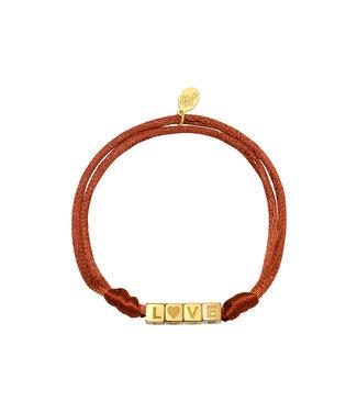 Satin Love Bracelet