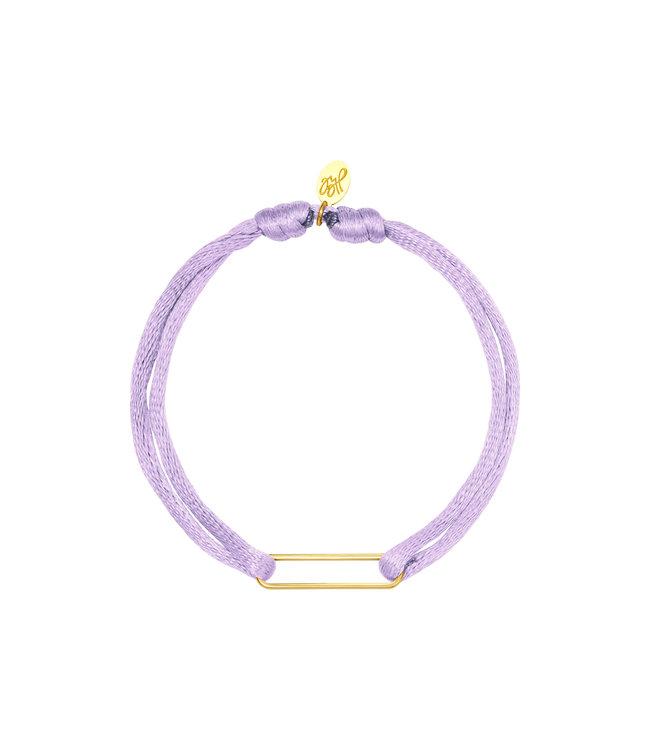 Satin Clip Bracelet / Lilac