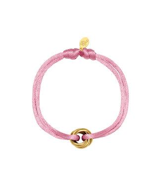 Satin Knot Bracelet / Pink