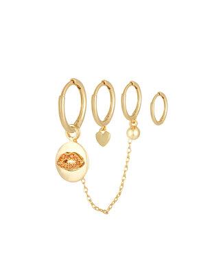 Lips and Love Earrings Set
