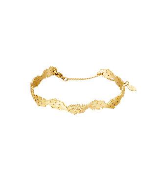 Bangle Wavy Leaf Bracelet