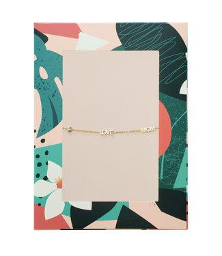 Love Mom Bracelet Giftcard / Gold