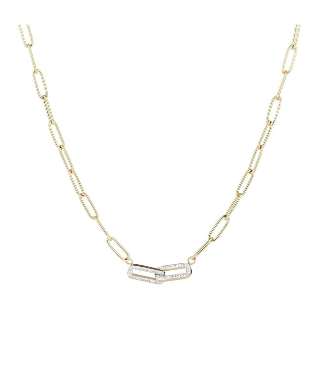 Shiny Chain Necklace / Silver