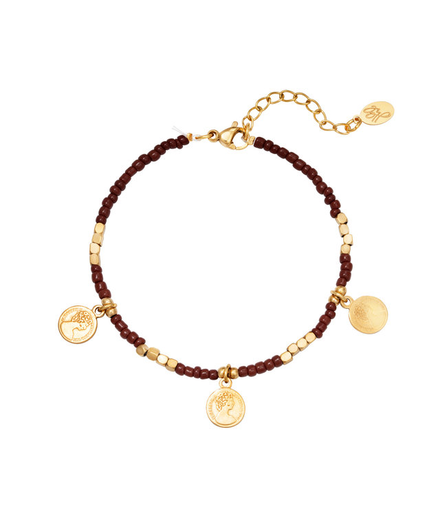 Beads and Coins Bracelet