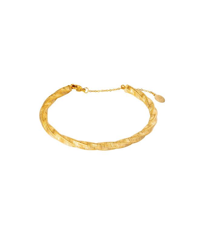 Gold Bangle Twist Bracelet