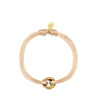 Satin Knot Bracelet / Beige