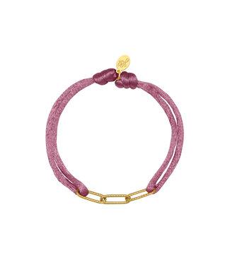 Satin Chains Bracelet / Purple